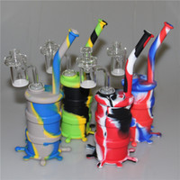 New Arrival Mini Silicone Drum Water Pipe glass bongs glass ...