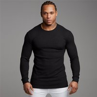 Muscleguys Autumn Men' s Sweater T- shirt Mens Long Sleev...