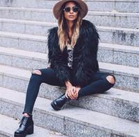 겨울 디자이너 여자 모피 코트 단색 V 넥 긴 소매 여자의 겉옷 느슨한 섹시한 숙녀 모피 코트