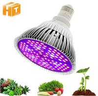 الطيف الكامل أدى تنمو ضوء لمبة 10W 30W 50W 80W أحمر أزرق UV الأشعة تحت الحمراء LED النمو مصباح المصابيح للزراعة الزهور النباتات الخضروات