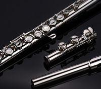 Flauta niquelada 16 hoyos Tecla C Cerrada Tecla E Dividir flauta de nuevo estudiante para principiante