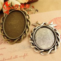 A3773 27*38MM Fit 25*18MM Antique Bronze pigeon oval metal s...