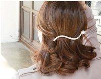 60pcs / lot DIY simple taladro de onda pinzas de pelo de la perla elegante Pinch Gallo horquillas del pelo Styling Tool Accesorios HA1032
