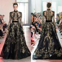 2020 ELIE SAAB Abendkleider mit China Elemente High Hals A Line Langarm Sleeve Prom Kleid Stickerei Pailletten Formale Party Kleidergaden
