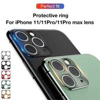 Für Handykamera Objektiv-Schutz-Abdeckung für iPhone 11 Pro Max Kameraobjektive Schutz Auto Ring Fall Smartphone Legierung Objektivdeckel
