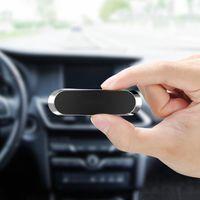 MINI Strip Форма Magnetic автомобиля держатель телефона Стенд настенный металлический магнит GPS Автомобильный держатель приборной панели для iPhone Samsung