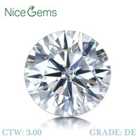 Nicegems Moissanite 3CTW harten en pijlen gesneden ronde kleurloze 9mm d kleur natuurlijke uitstraling diamant losse edelsteen vvs1 cj191219