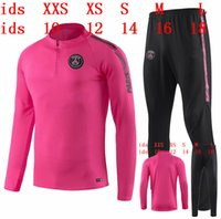 2019 2020 psg KIDS veste survêtements MAGLIONE calcio chandail de football survêtement adulte YOUNTH skinny pantalon