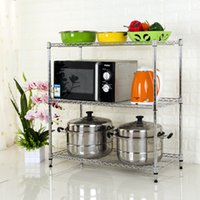 Adjustable DIY Chrome Plated Kitchen Mini Wire Shelf Rack