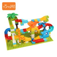 143pcs 3d rolling maze ball marble run diy toy building bloc...