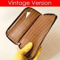 N63095 ZIPPY WALLET VERTICAL مصمم أزياء رجالية طويل XL برازا محفظة جيب المنظم Pochette Cles عملة حامل البطاقة NEO PORTE CARTES