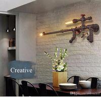 Лофт промышленные светодиодные настенные светильники водопровод бра пистолет для ресторан/бар/прохода/коридор/балкон старинные домашнего дек освещения