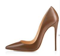 Venda quente-Mulheres Negras Nudei Poined Toe Mulheres Bombas 8,10, 12 cm Moda Red Bottom de Salto Alto Sapatos para as Mulheres sapatos de Casamento