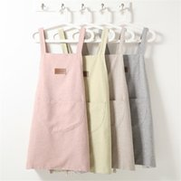 Kitchen Baking Apron With Pocket Waterproof And Oil- proof Ap...