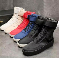 Of Fear Dio militare Sneaker senza black-box Gum Numbuck Nebbia Made In Italia Military Boots High Street stivali invernali stivali Size