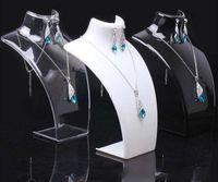 Acrylique Mannequin Bijoux Affichage Boucle d'oreille Pendentif Colliers Modèle Porte-stand pour cadeau 2PCS / Lot DS13