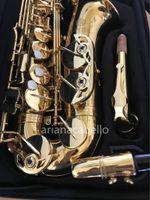 Юпитер JAS-769-II EB Tune Alto Saxophone Латунный Золотой Лак Музыкальный Прибор E Плоские Высокое Качество Sax С Корпус Аксессуары Мундштук