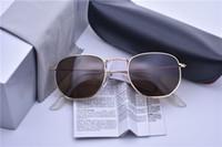New Sunglasses Homens Mulheres Vintage uv400 reflexivo lente metal Sunglass Steampunk de óculos de sol mais barato com caixa e caso