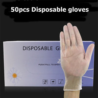 50pcs Disposable PVC Gloves Tattoo Gloves Anti bacterial Universal Protective Gloves For Dishwashing/Kitchen/Garden Home Cleaning