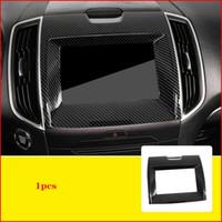 Für Ford Edge 2015-2019 Carbon-Faser-Innen GPS Navigation Panel Abdeckung Trim