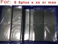100 unids / lote Plastic Seal Factory Protector de pantalla de película para el nuevo teléfono móvil para iPhone 7 7p'lu 8plus X XS MAX XR