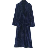 남자 잠옷 남성 목욕 가운 겨울 잠옷 목욕 가운 여성 flannel 부부 따뜻한 잠옷 남성 나이트 드레싱 가운