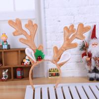 Dekoracje świąteczne Reindeer Headband Horns Antlers Deer Uszy Akcesoria do włosów dla dorosłych