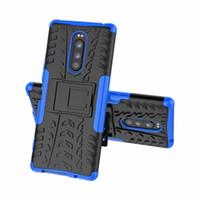2 in 1 Hybrid KickStand Impact Rugged Heavy Duty TPU+PC CASE Cover for Sony Xperia XZ3 XA3 XZ4 XZ4 MINI L4 50pcs/lot