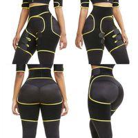 FX-14 Magro Coxa Trimmer Leg Shapers Magro Slimming Belt Neoprene Sweat Shapewear tonificado músculos Banda Coxa mais magro do envoltório