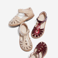 Summer Fashion Kids Girls Heart Shape Hollow Out Sandals Ank...