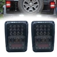 2019 nuevo par de cola del freno LED de Estados Unidos / UE luces de señalización posterior Lámparas inversa para Jeep Wrangler 2007 -2016 vehículos