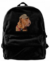 Funny dog Canvas Shoulder Backpack Cute Backpack For Men & W...