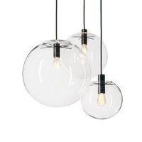 Lampada a sospensione Globo Globe Chrome Glass Ball Ball Hanglamp Luster Sospensione Cucina Luci Cucina Apparecchio Home Appeso Luci E27