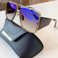 최고 품질 인기 남성 여성 디자이너는 사각 프레임 럭셔리 플레이트 금속 조합 선글라스 UV400 보호 야외 안경 Souliner의