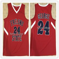 fbe55190d163 Ncaa 2018 New   24 Paul George - Fresno State Bulldogs - Oberes College- Basketball