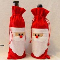 سانتا كلوز زجاجة النبيذ حقيبة عيد الميلاد النبيذ زجاجة الشمبانيا غطاء زجاجة النبيذ حزب حقيبة حلية أدوات المائدة الديكور أداة RRA1853