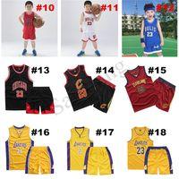 Sans manches Basketball Equipe Shorts Set Lettre Lettre Print Garçons Girls Teens Summer Two-Piece Suites SportSwear Sport Tenues XS-XXL D22001