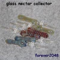 Collecteur de nectar en verre avec astuces de quartz Tips en verre Tuyaux d'eau Concentré DAB paille DAW DAB