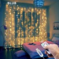3M USB LED الستار سلسلة الأنوار فلاش الجنية جارلاند تحكم عن بعد لحضور حفل زفاف السنة الجديدة عيد الميلاد في الهواء الطلق ديكور المنزل