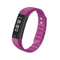 ID115HR Smart-Armband-Uhr-Blutdruck-Puls-Monitor-Smart Watch Fitness Tracker wasserdichte intelligente Armbanduhr für IOS Android