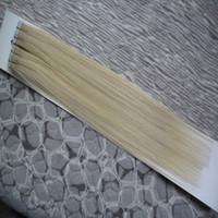 Peruvian Virgin Hair Ruban Coiffure 100g Ruban de cheveux dans les extensions de cheveux humains Remy Remy sur Adhésif Invisible PU Weft Extension