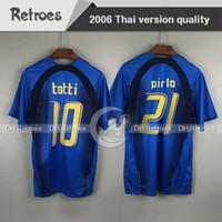 2006 2007 Gattuso Retro Soccer Jersey Home 06/07 Totti del Piero Nésta Inzaghi Pirlo Materzi Toni Camisa de Fútbol