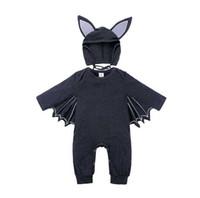 Neue Art-Baby-Jungen-Mädchen-Strampler Designer Kinder Langarm Baumwolle Jumpsuits Säuglingsmädchen-Brief-Baumwollspielanzug-Jungen-Kleidungs neue Art und Weise