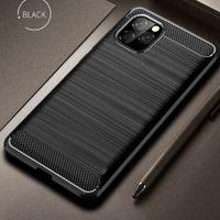 탄소 섬유 TPU 케이스 아이폰 (11) 프로 X XS 최대 XR 7 8 6S 플러스 은하 S10 S9 플러스 주 10 프로 A70 화웨이 P30 라이트 명예 10I LG STYLO 5 케이스