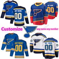 사용자 정의 세인트 루이스 블루스 유니폼 91 Vladimir Tarasenko 90 Ryan O'Reilly 50 Binnington 10 Schenn 사용자 정의 모든 이름 Hockey Jerseys