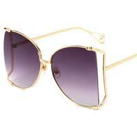 2019 übergroße quadratische sonnenbrille frauen neue luxus trendy metall grün blau klare linse vintage männer gradienten shades uv400 lunettes de designer