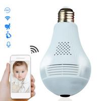 360 grados de luz LED 960P Wireless Home Seguridad panorámica ladrón de la seguridad del CCTV de WIFI Ojo de bombilla de la lámpara de la cámara IP de dos maneras audio
