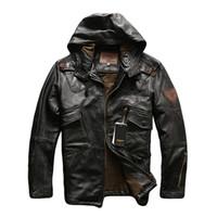 2 ألوان AVIREXFLY الرجال jakcets جلد الغنم حقيقي مع ykk سستة سترة دراجة نارية مع الدعاوى هودي الطيران