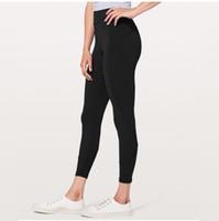Naked Material Yoga Hosen Hohe Taille elastische Lauf Leggings Schnell trockene Fitness Wear Yoga Outfits Damen Marke Casual Eng