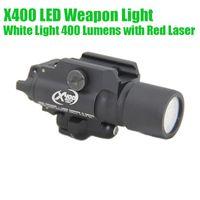 Pistola Light Gun tattica di alluminio di CNC SF X400 LED Fucile luce bianco con il rosso nero laser